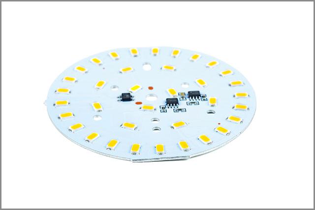 High power SMD white lighting LED assembly