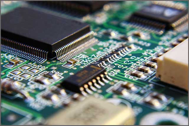 A printed circuit board with electric components