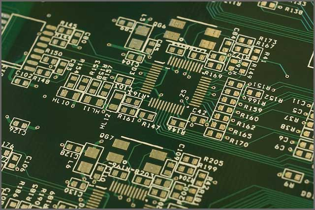 A printed circuit board with multiple layers