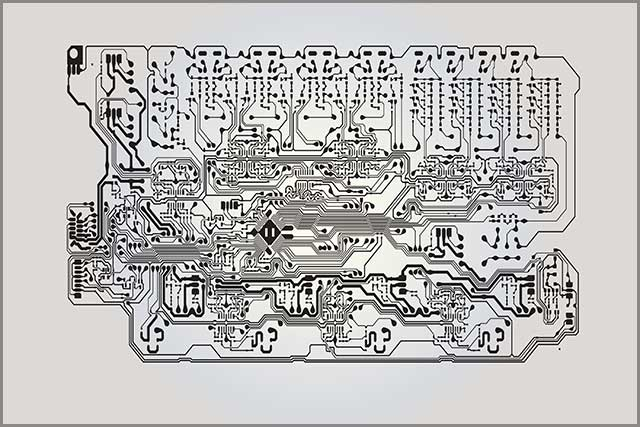 It shows a possible trace data of HDI PCB