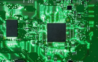 Printed circuit board with a lit background
