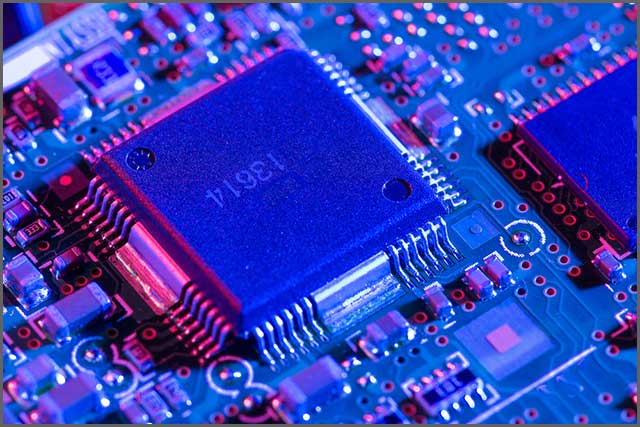 A close up image of a Printed Circuit Board