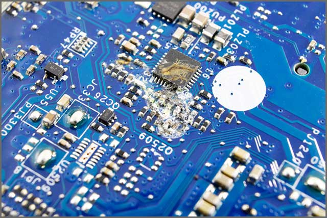 An image a faulty PCB as a result of a poor design