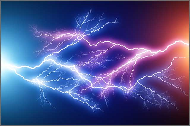 Electrostatic discharge illustration