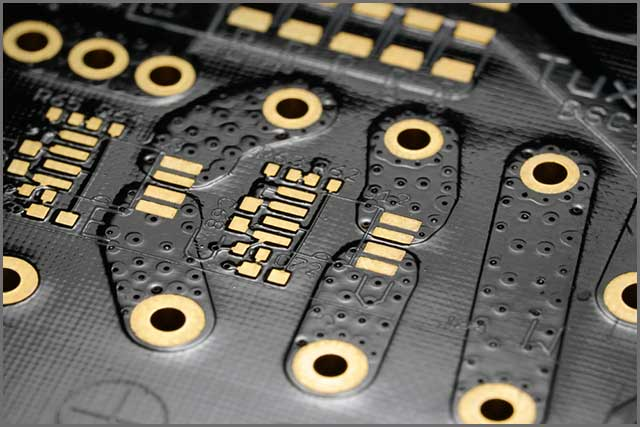 A Gold Plated PCB