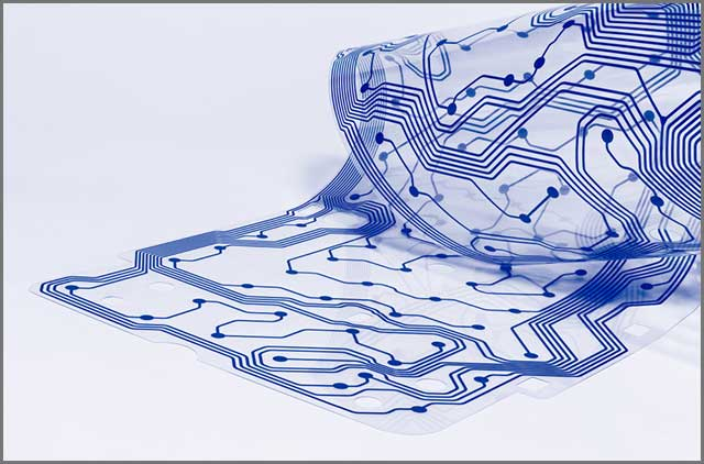 An image of a flexible printed circuit board