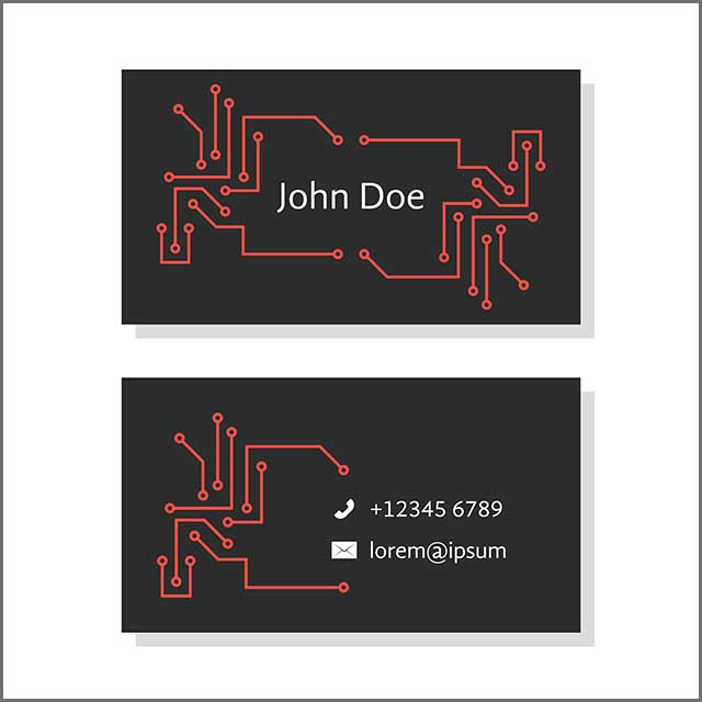 PCB Business card concept