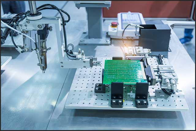 Robotic system for PCB automatic checking