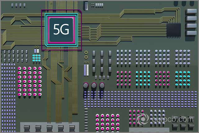 Next generation military grade olive color cellular network technology circuit board