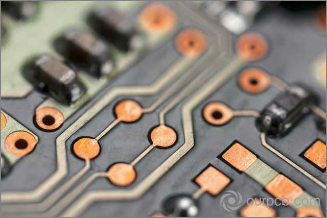 Beautiful pin lines on printed circuit boards
