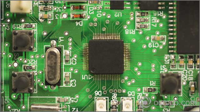 It shows a dirty and poor PCB assembly