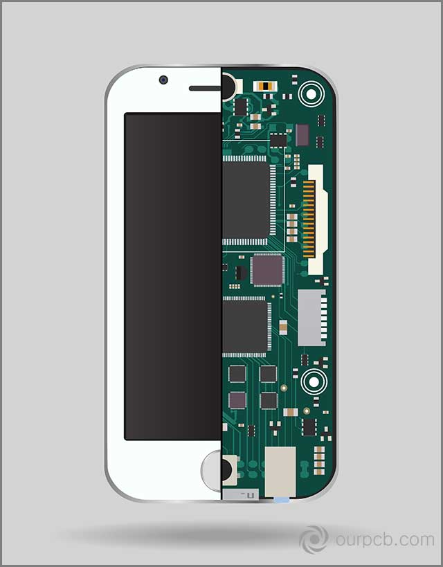 Circuit boards configured into a mobile device