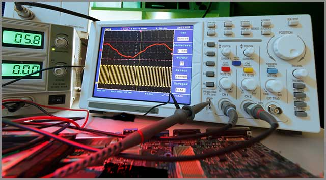 PCB testing in process for any programming errors