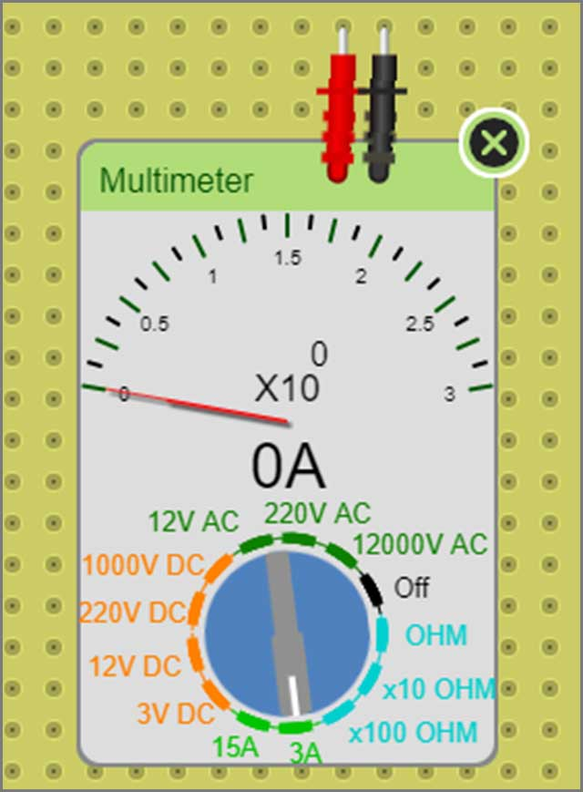 multimeter in DCACLab