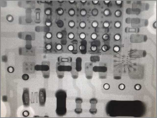 X-ray inspection of Printed Circuit Board (PCB) for any possible error