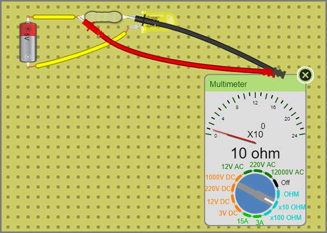 Resistance with Multimeter