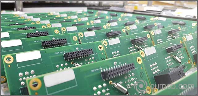 Advanced PCBs that have undergone various production steps