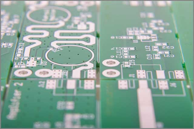 a sample of the FR4 material on a PCB