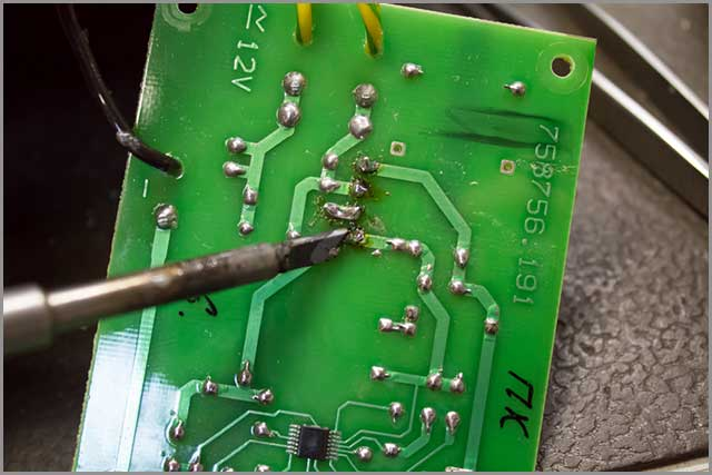 PCB soldering A pic of a diode bridge