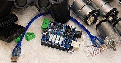 Motor controller PCB model diagram