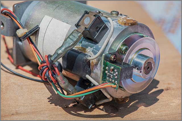 Brushless DC motor with Controller Parts and PCB