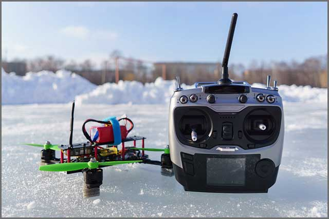 racing a drone on snow using an ESC