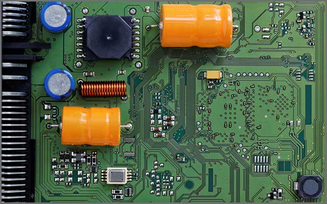 A photo of an ideal size of a PCB used in drone flight controllers