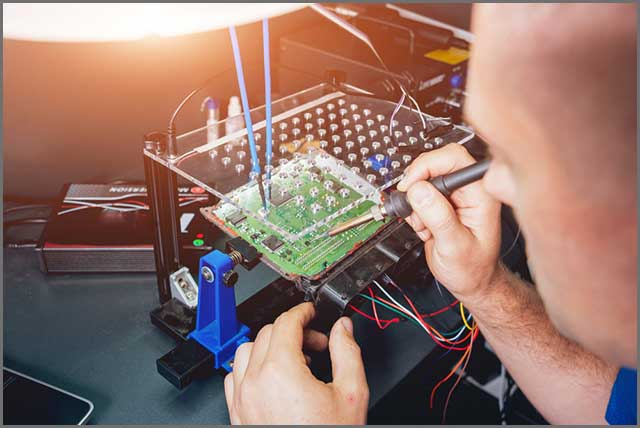 Auto repair of a PCB meant for a drone flight controller