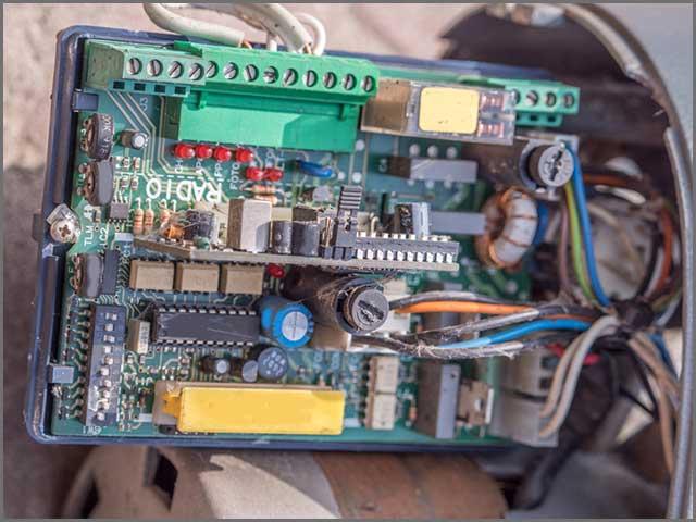 A motor control PCB