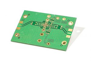 RF amplifier PCB isolated on the white background
