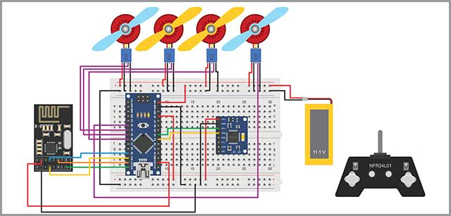Drone Circuit Board Diagram