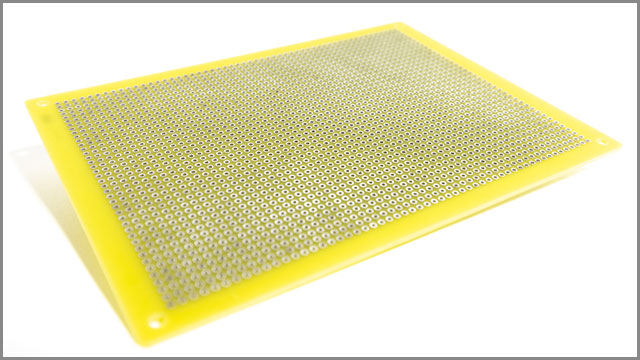 Double-sided welded board on white background