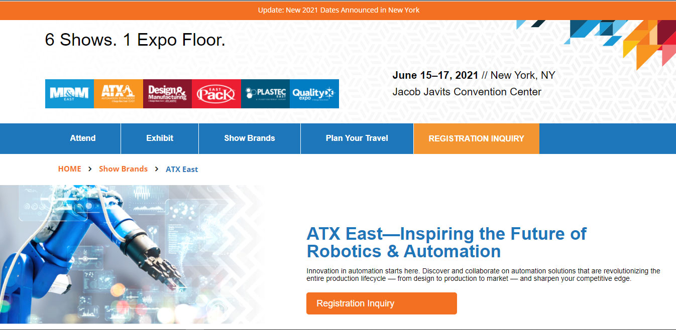 Automation Technology Expo East