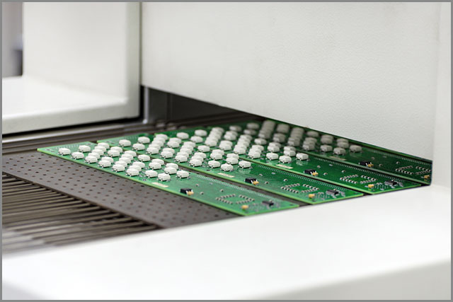 Air convection reflow oven