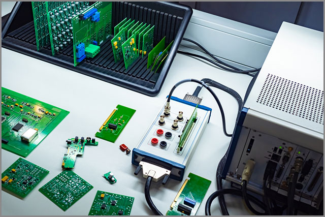 Quality control of printed circuit boards.