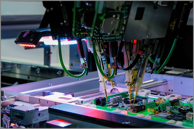Automation machine equipment for quality testing of printed circuit boards -ITC test at the factory