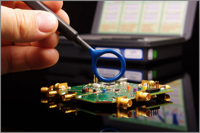 Electromagnetic compatibility (EMC) engineers perform EMC troubleshooting and measurement
