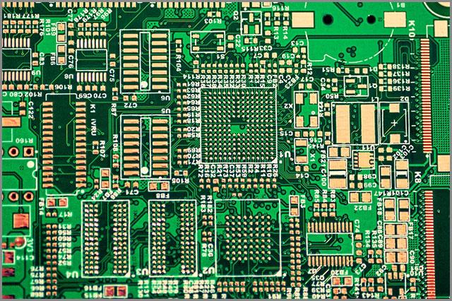 an intricate PCB design