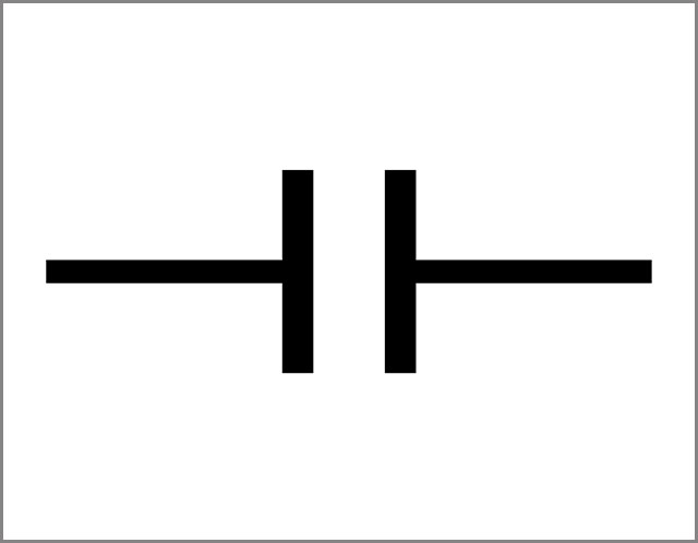 The Circuit Symbol for a nonpolarized capacitor