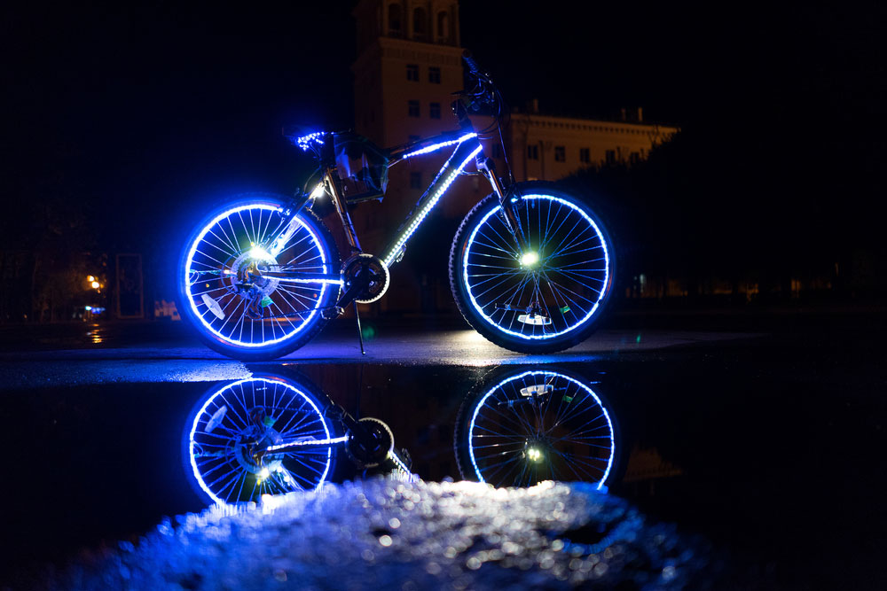 Bicycle Design Lighting with LED Strip Lights