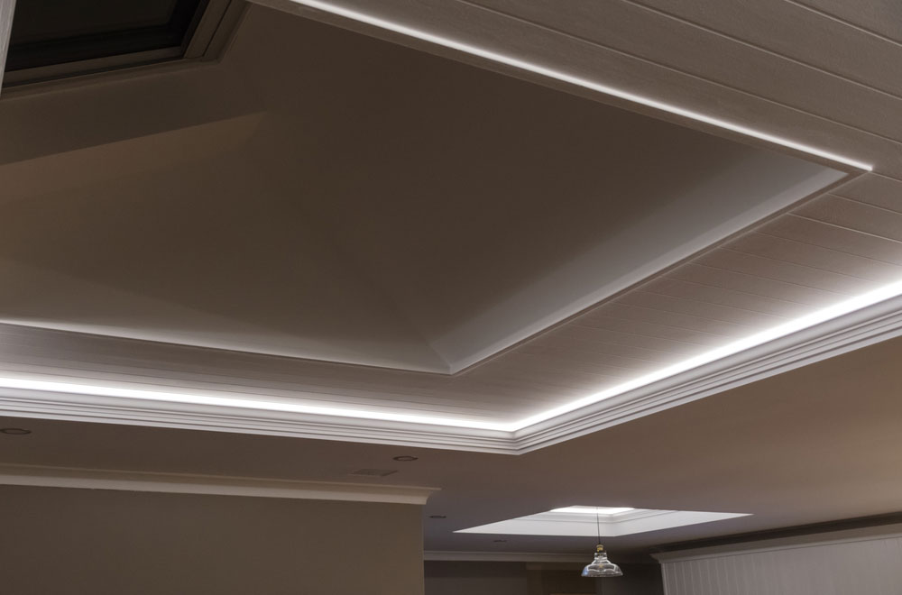 Ceiling Lighting with LED Strip Lights