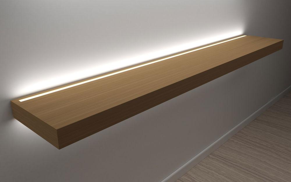 Floating Shelf with LED Lights