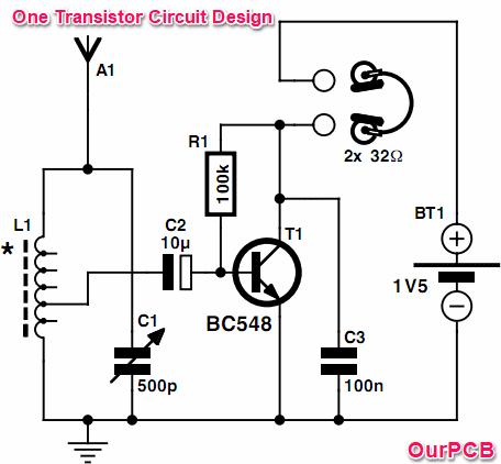 One Transisitor Circuit Design
