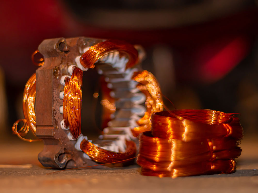 winding copper coil for DC motors