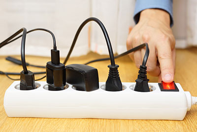 A secondary surge protection technology connected to an external source of power for the connection of other household appliances
