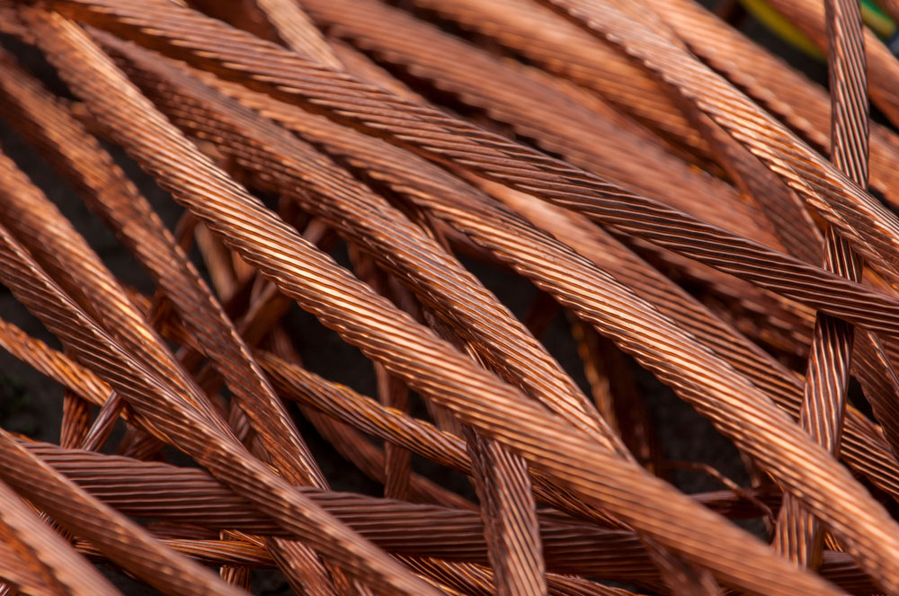 A roll of pure copper cables.