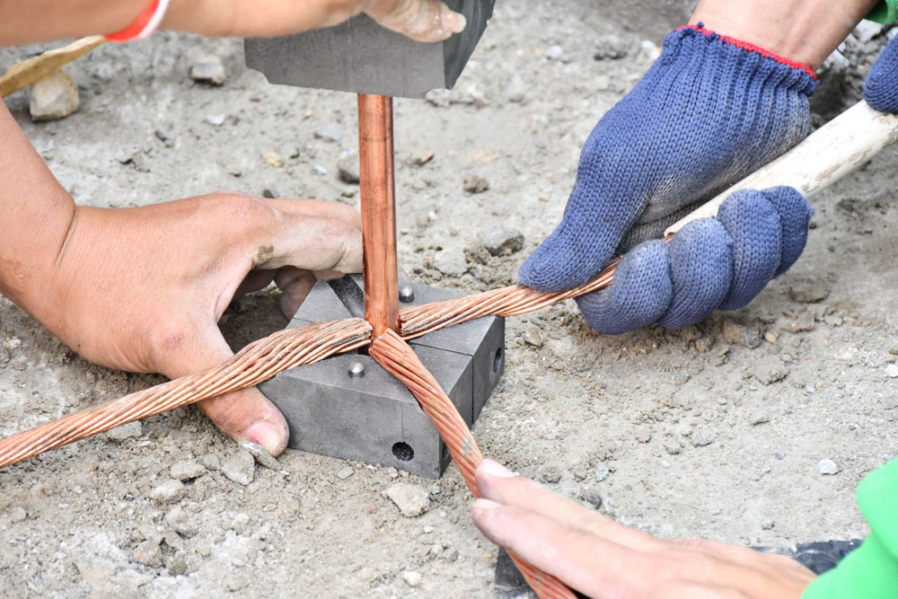 engineers protect copper clad ground wiring