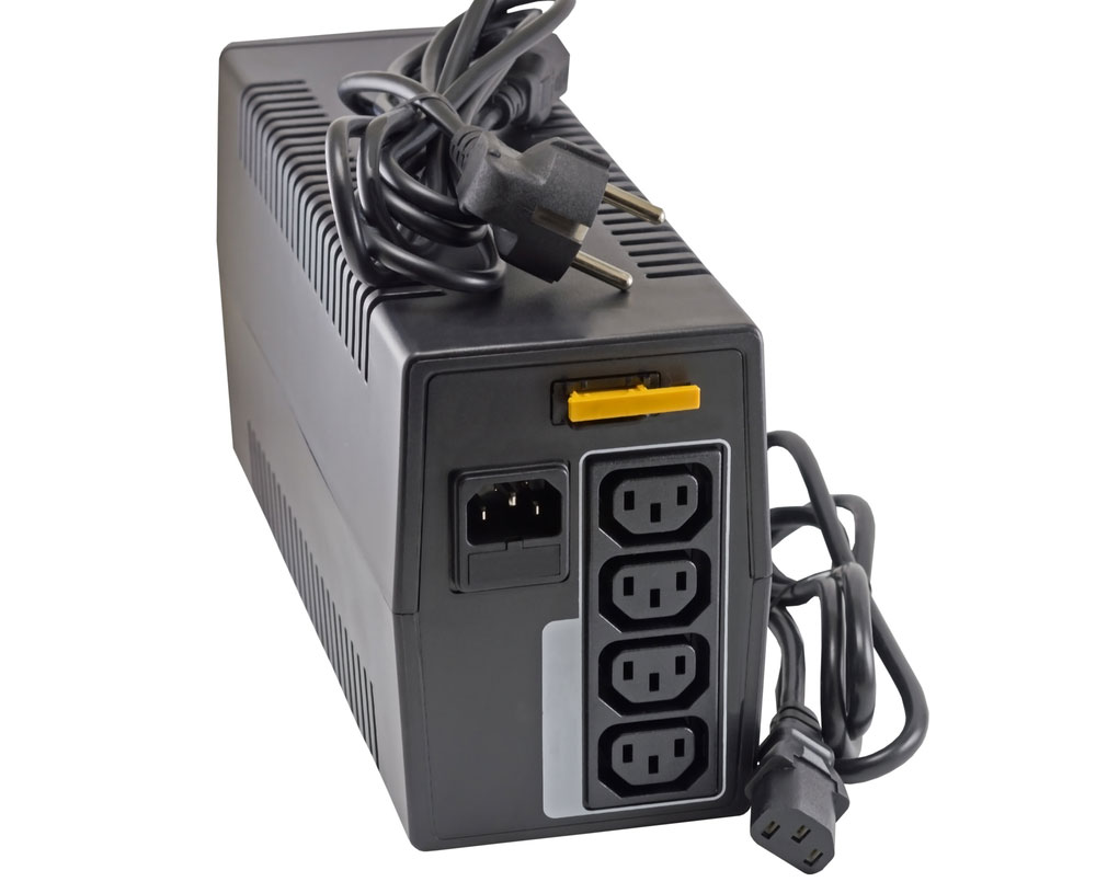 A UPS surge protector circuit buoying temporary surges in voltage