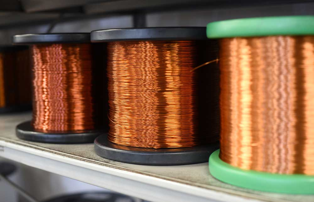Thick copper wires