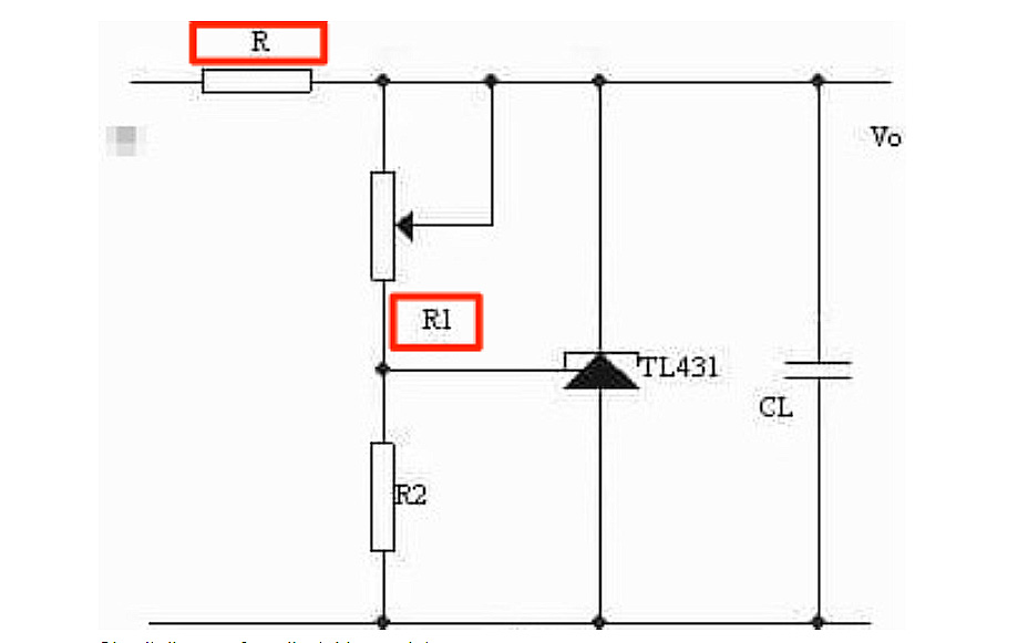 Circuit diagram for adjustable regulator